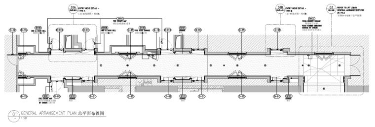 上海前滩香格里拉大酒店样板间方案+施工图-总平面布置图