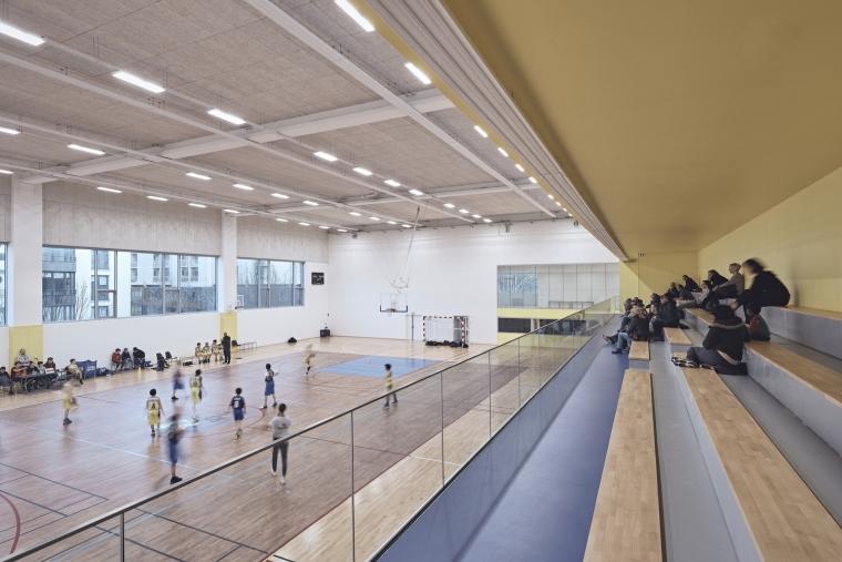 法国EspacePompidouGymnasium健身房-Enia_architectes-Espace_Pompidou_-_Courbevoie-Epaillard_Machado_24_ArchDaily