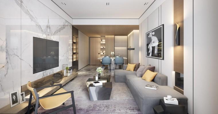 惠州黄嶂山新城70+125户型样板房软装方案