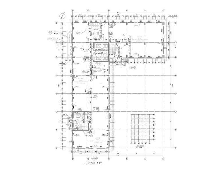 5栋多层/高层框架框剪结构办公楼建筑结构图