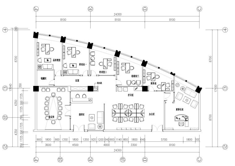 [山东]长福置业有限公司装饰施工图+效果图