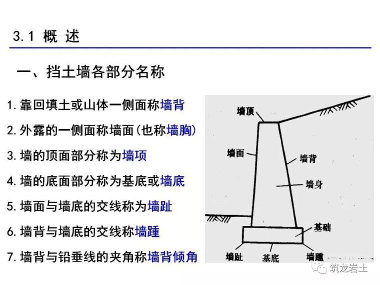 挡土墙分类大全及重力式挡土墙设计示意图