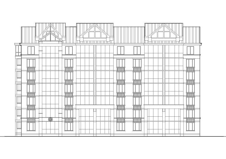 坡屋顶一梯两户多层住宅楼建筑施工图