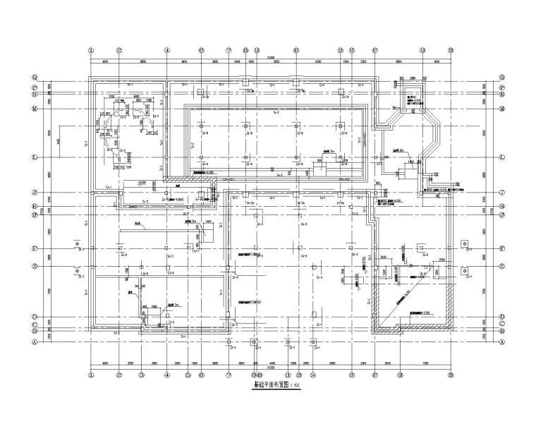 2层框架结构综合楼结构施工图(2015)