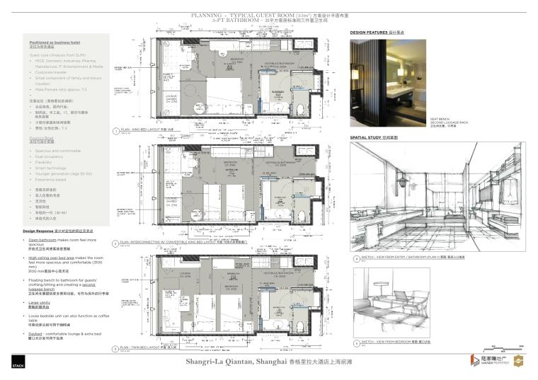 上海前滩香格里拉大酒店样板间方案+施工图-上海前滩香格里拉大酒店样板间概念方案 (5)