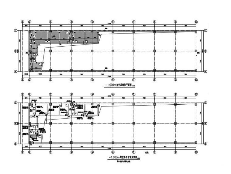 3层钢混框架结构厂房结构图(PHC管桩)