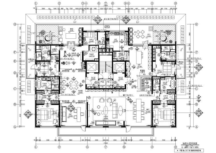 北京万科如园435㎡超大平层样板间施工图
