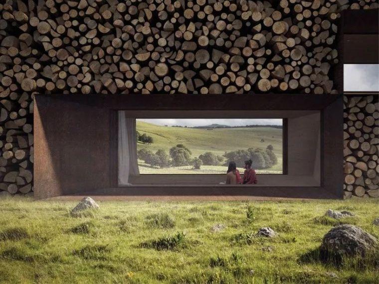 [设计邦·场]一座被木头环绕的乡村房屋_1