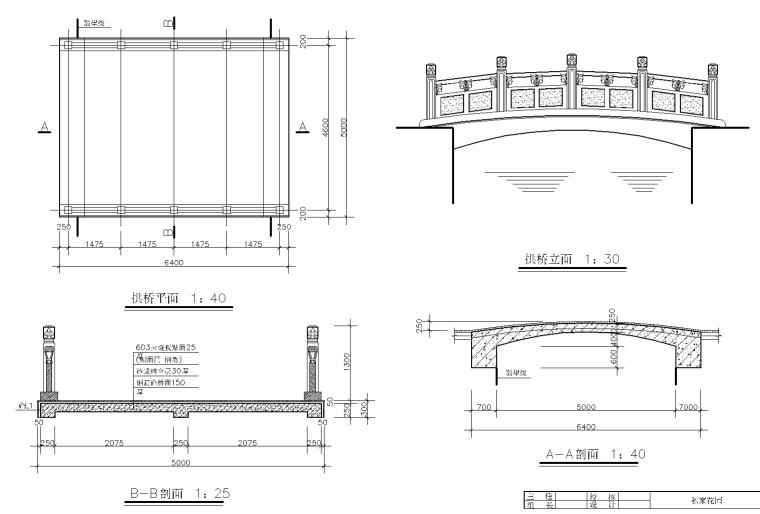 私家庭院花园CAD施工图-花园施工图纸 4 拱桥施工详图_看图王
