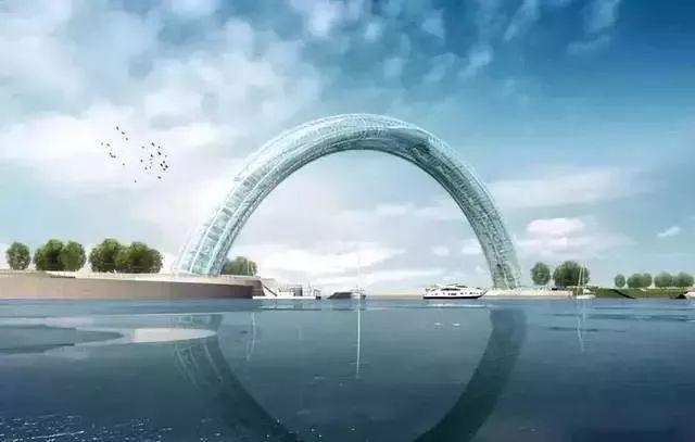 """""""黄海之眼""""——设计师笔下的全钢玻璃拱桥_5"""