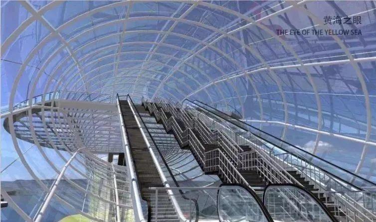 """""""黄海之眼""""——设计师笔下的全钢玻璃拱桥_8"""
