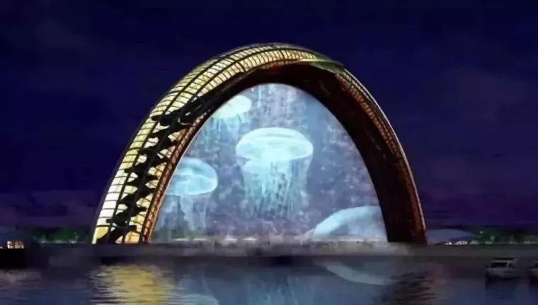 """""""黄海之眼""""——设计师笔下的全钢玻璃拱桥_6"""