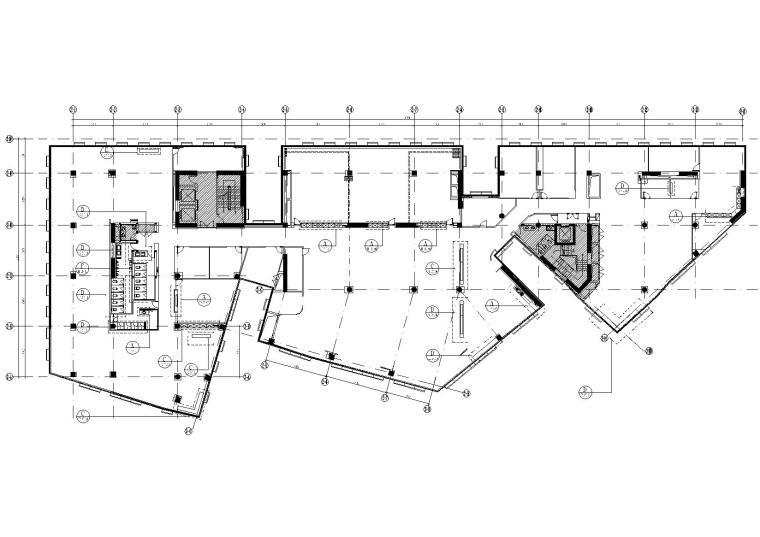 北京科技园滴滴出行办公楼CAD施工图+实景图