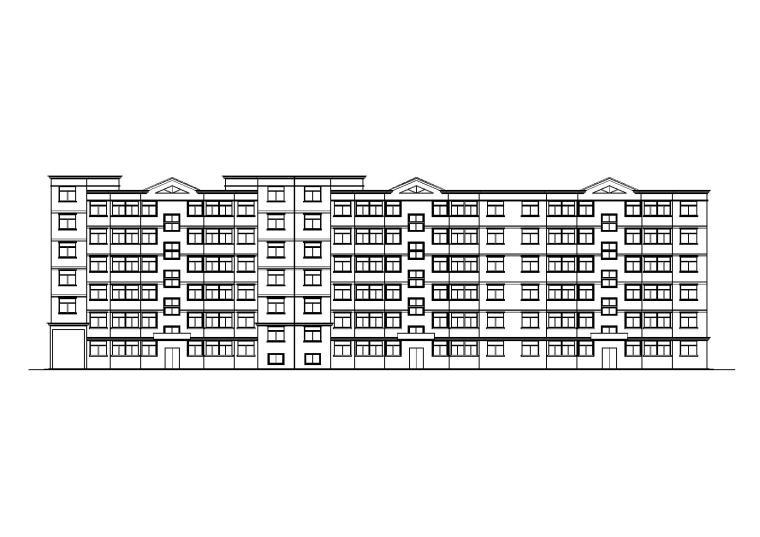 一梯两户多层住宅楼建筑施工图