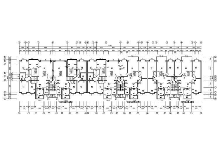 一梯两户多层住宅楼建筑施工图-05多层住宅楼5.4m处平面图