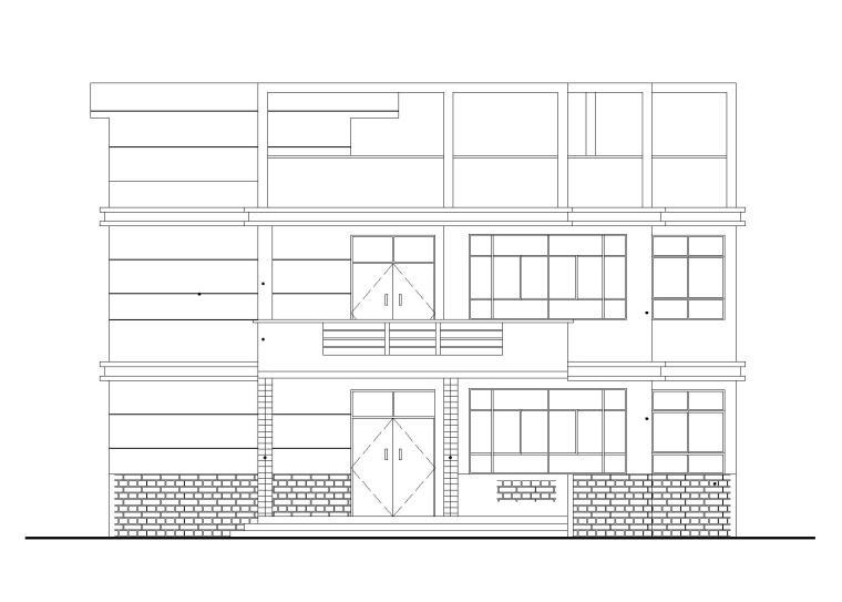 农村实景图资料下载-两层农村自建房建筑施工图(CAD)