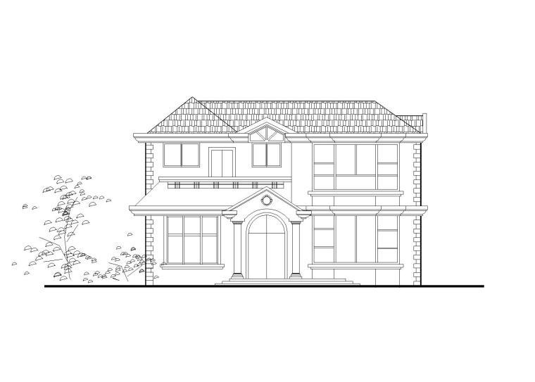 两层独栋别墅建筑施工图(CAD)