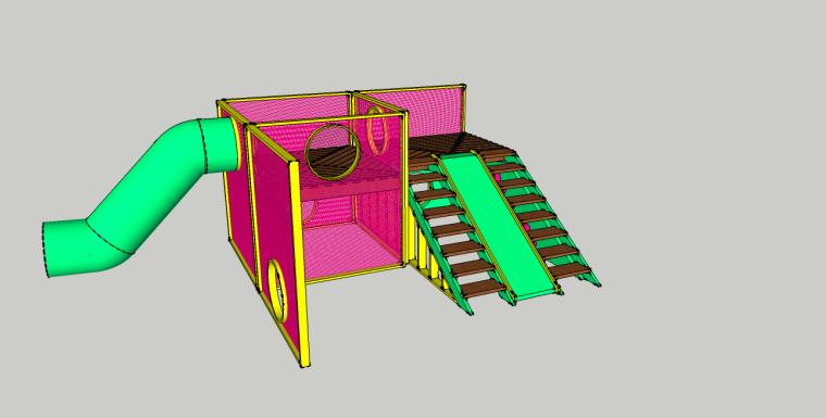 儿童娱乐设备滑滑梯SU模型