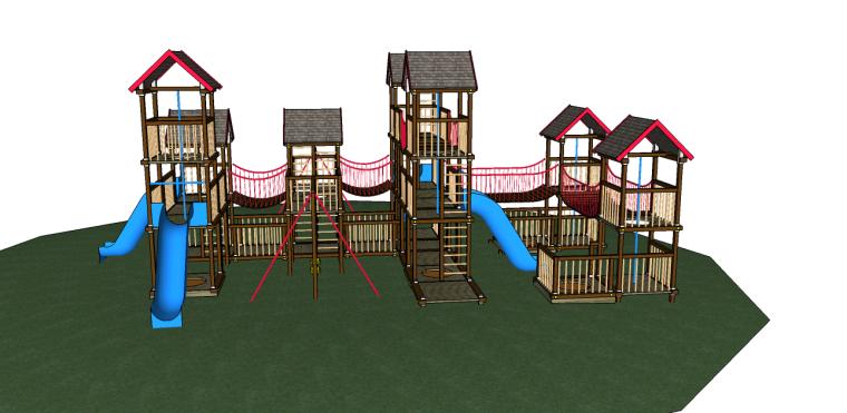 儿童游乐设施su模型(滑梯)