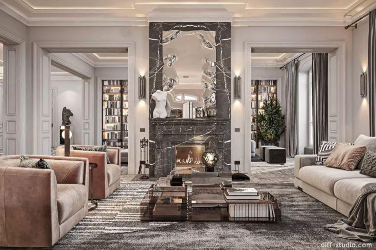 巴黎轻奢大平层,展现高端住宅的精度和品质