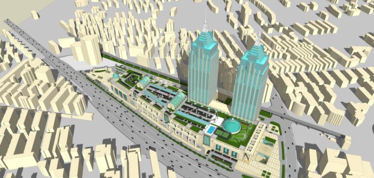 [上海]月星环球港建筑模型设计-上海月星环球港建筑模型 (7)