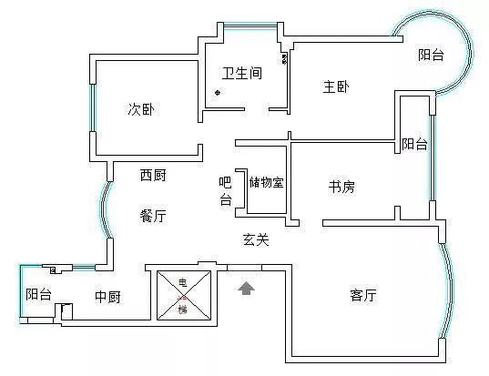 120㎡北欧风格4居室装修,只刷白墙不吊顶