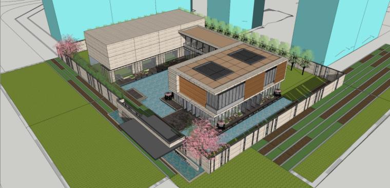 精品示范区+会所建筑模型设计