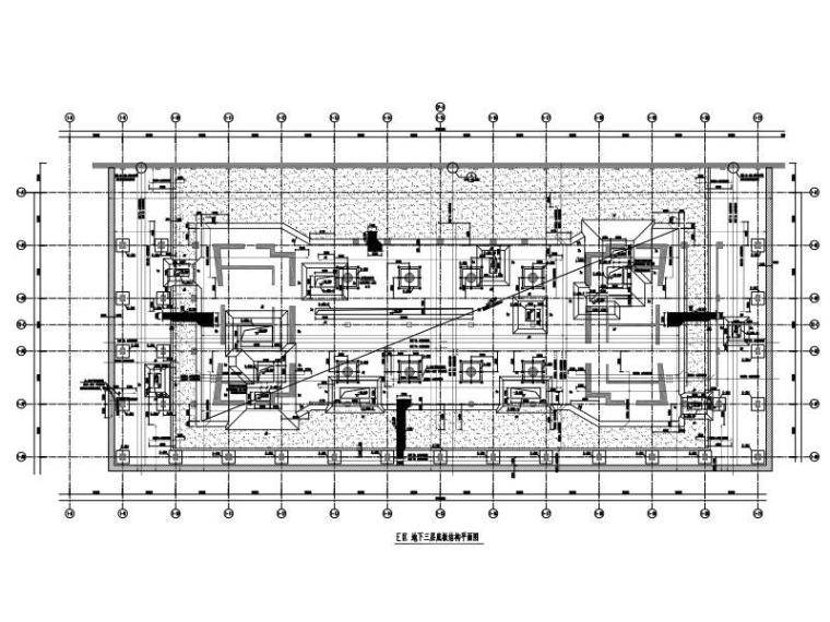 巨型支撑筒+巨型框架筒超高层大厦结构图纸