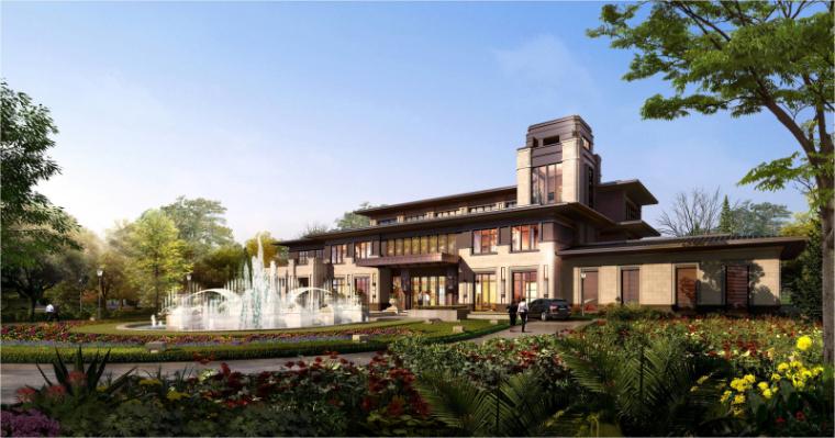 [山东]新古典风格九溪墅建筑模型设计