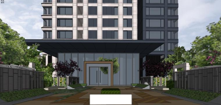 [上海]现代风格公寓建筑模型设计-上海黄浦江沿岸浦发公寓 (8)