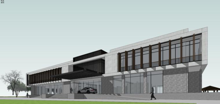 现代风格会所小旅馆建筑模型设计-水边会所小旅馆 (6)