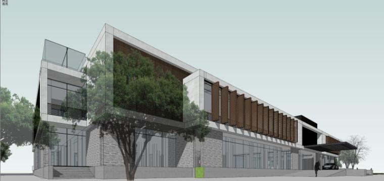 现代风格会所小旅馆建筑模型设计-水边会所小旅馆 (7)