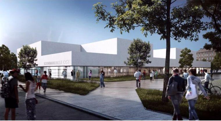 莱比锡东游泳馆|建筑综合体设计竞赛冠军