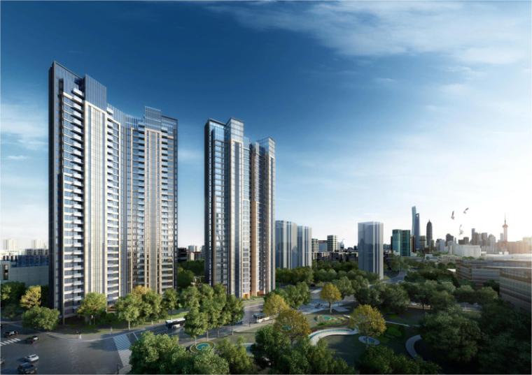 [上海]现代风格公寓建筑模型设计-上海黄浦江沿岸浦发公寓 (1)