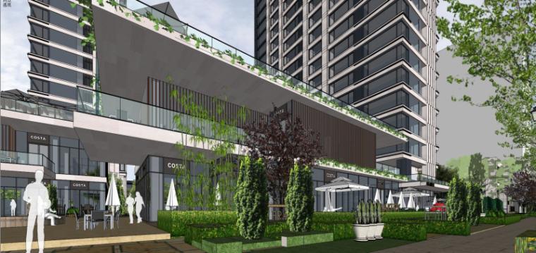 [上海]现代风格公寓建筑模型设计-上海黄浦江沿岸浦发公寓 (5)