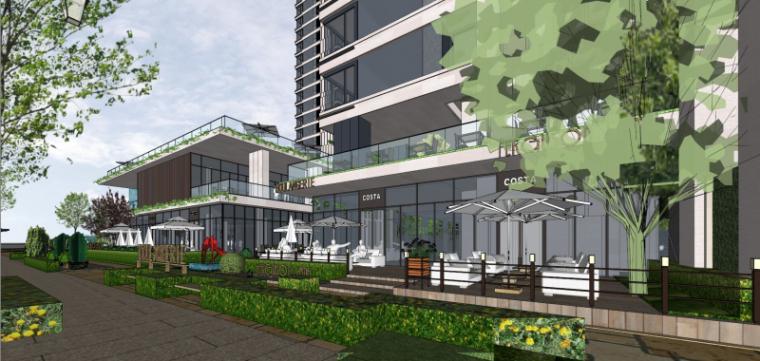 [上海]现代风格公寓建筑模型设计-上海黄浦江沿岸浦发公寓 (6)