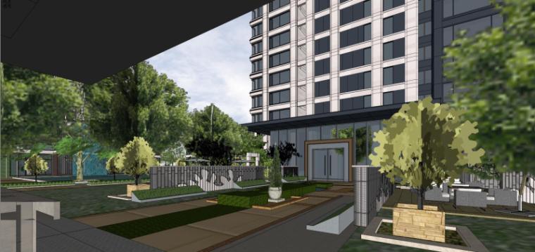 [上海]现代风格公寓建筑模型设计-上海黄浦江沿岸浦发公寓 (7)