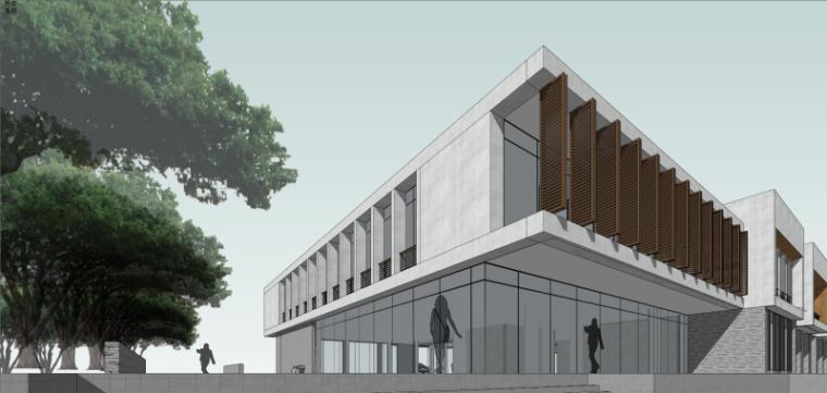 现代风格会所小旅馆建筑模型设计-水边会所小旅馆 (4)