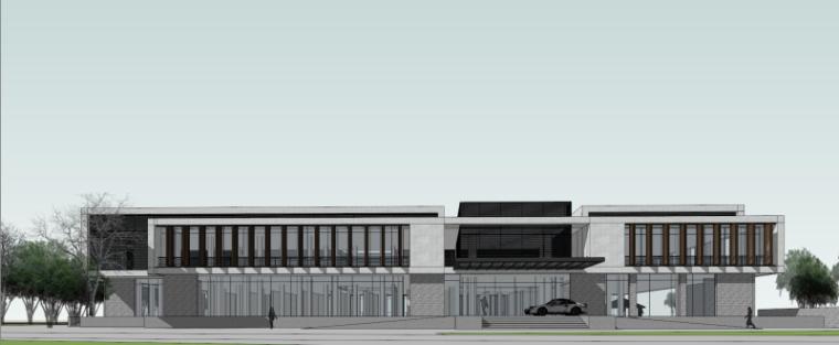 现代风格会所小旅馆建筑模型设计-水边会所小旅馆 (5)
