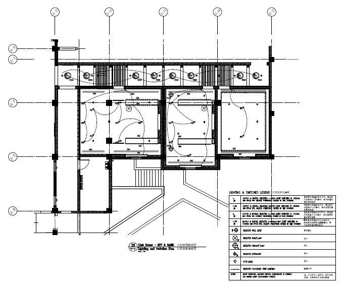 安徽五星级豪华酒店会所室内精装电气施工图