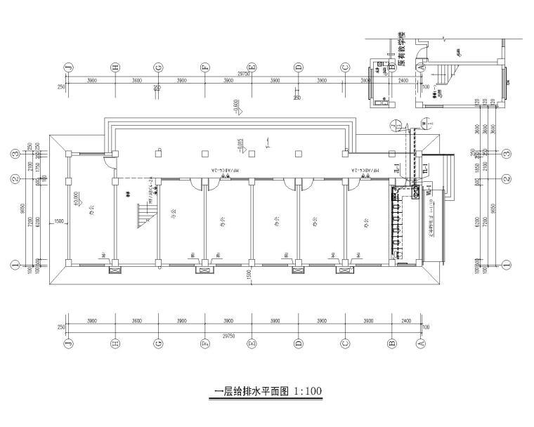 学校改造项目综合楼给排水设计施工图CAD版