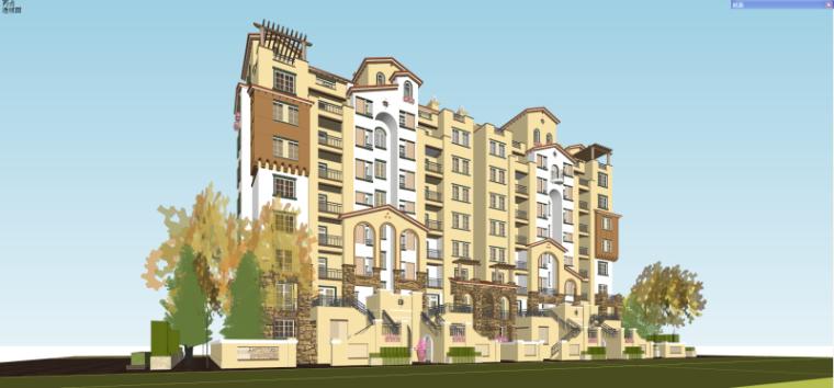 欧陆风格住宅建筑模型设计