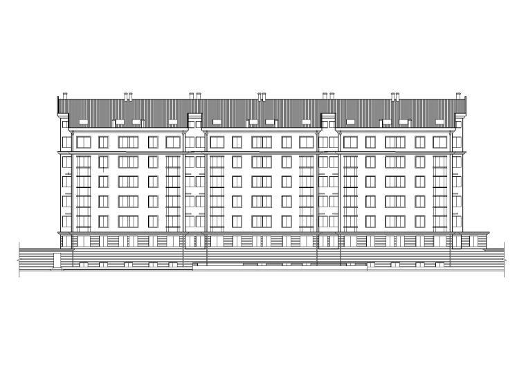[山东]碧海花园多层坡屋顶住宅六层平面图