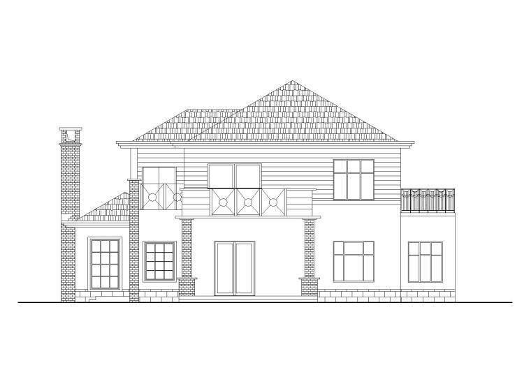 现代风格2层独栋别墅建筑施工图