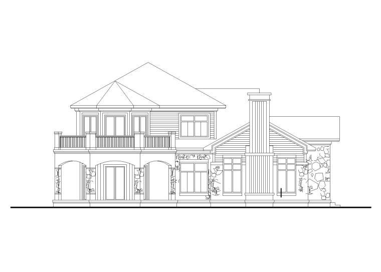 [山东]现代风格两层独栋别墅建筑施工图