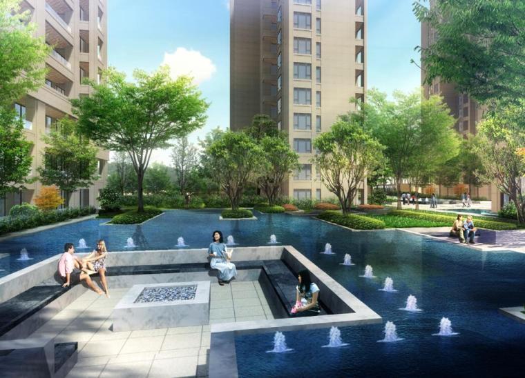 [江苏]现代风格住宅区景观深化方案设计