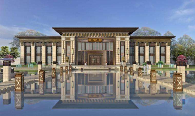 [吉林]新中式风格北湖住宅建筑方案