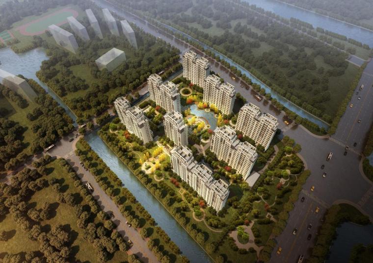 [上海]现代流线风格住宅建筑方案文本