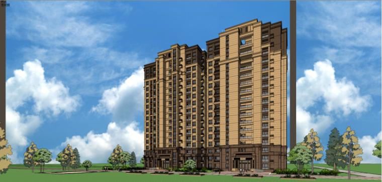 新古典商业住宅建筑模型设计