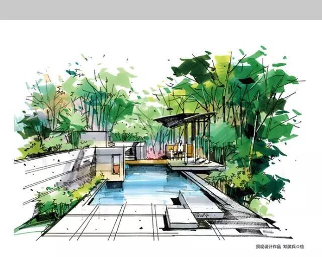 千张建筑、景观、室内马克笔手绘表现图分享_8